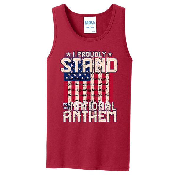 I Proudly Stand - Core Cotton Tank Top
