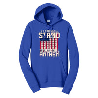 I Proudly Stand - Fan Favorite Fleece Pullover Hooded Sweatshirt