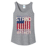 I Proudly Stand - Ladies Core Cotton Tank Top