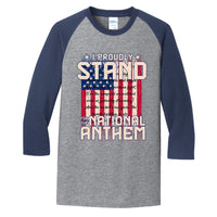 I Proudly Stand - Core Blend 3/4-Sleeve Raglan Tee