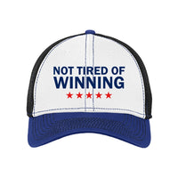 Not Tired of Winning - Stretch Mesh Contrast Stitch Cap