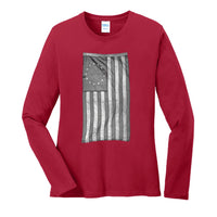 Old Glory - Ladies Long Sleeve Core Cotton Tee