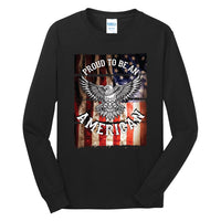 Proud To Be An American - Long Sleeve Core Cotton Tee