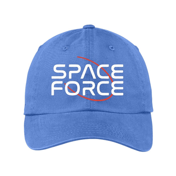 Space Force - Garment Washed Unstructured Cap