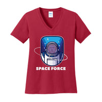 Space Force - Ladies Core Cotton V-Neck Tee