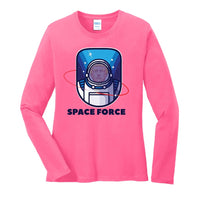 Space Force - Ladies Long Sleeve Core Cotton Tee