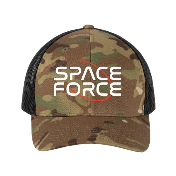 SALE - Space Force Camo Retro Trucker Hat