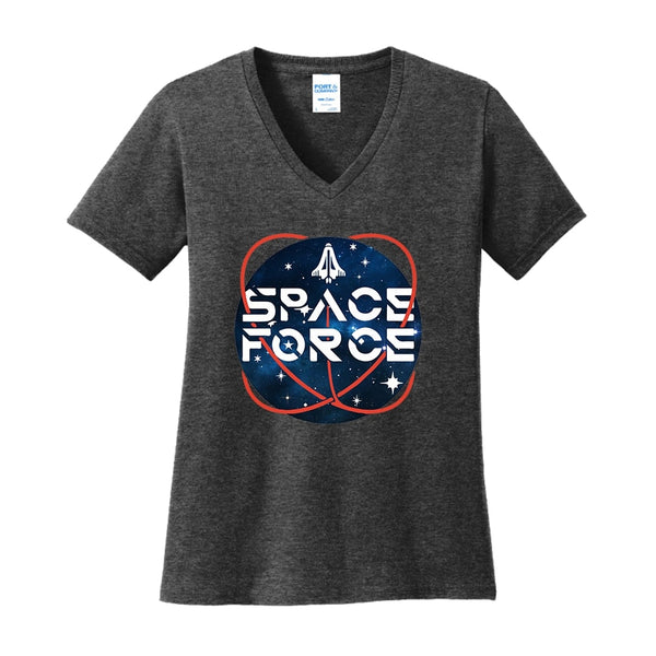 Space Force 2.0 - Ladies Core Cotton V-Neck Tee