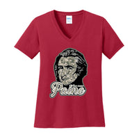 Thomas Paine Digi Camo - Ladies Core Cotton V-Neck Tee