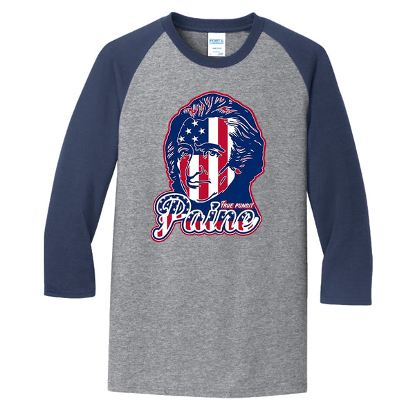 Thomas Paine Patriot - Core Blend 3/4-Sleeve Raglan Tee