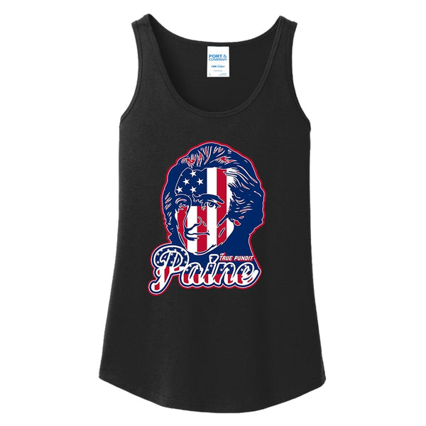 Thomas Paine Patriot - Ladies Core Cotton Tank Top