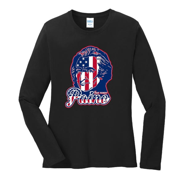Thomas Paine Patriot - Ladies Long Sleeve Core Cotton Tee