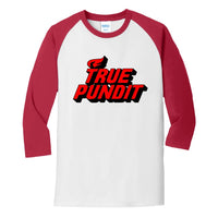 True Pundit - Core Blend 3/4-Sleeve Raglan Tee