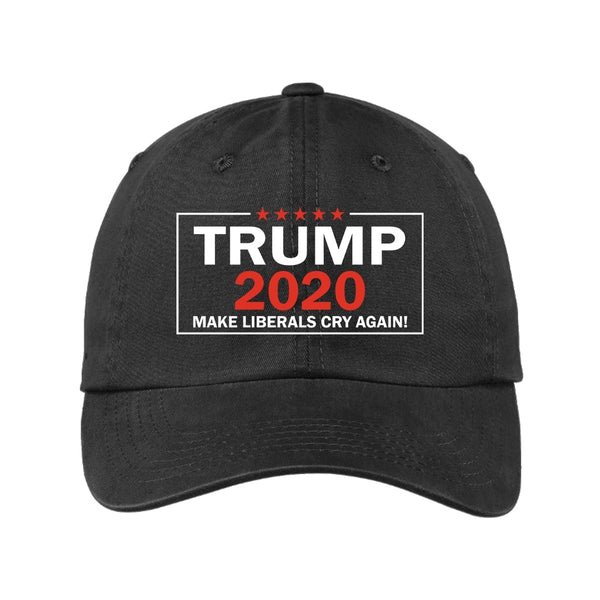 Trump 2020 - Garment Washed Unstructured Cap