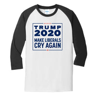Trump 2020 - Core Blend 3/4-Sleeve Raglan Tee