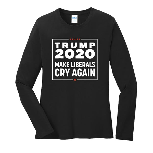 Trump 2020 - Ladies Long Sleeve Core Cotton Tee