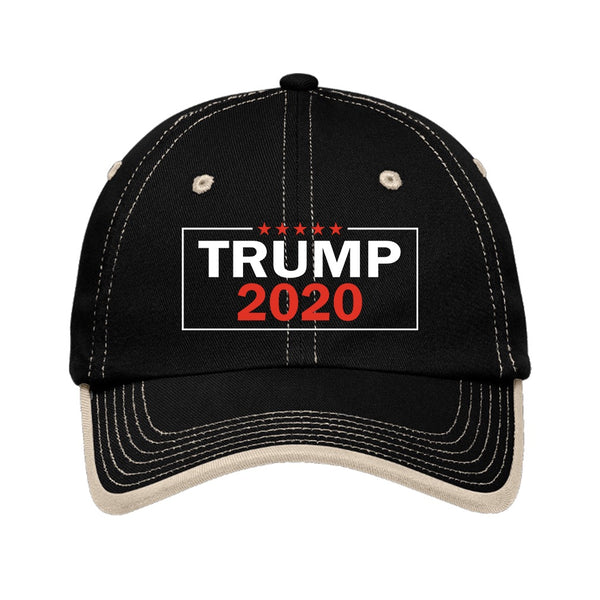 Trump 2020 2.0 - Port Authority Vintage Washed Contrast Stitch Unstructured Cap