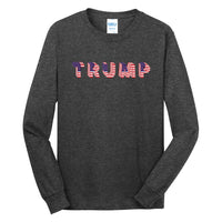 Trump Flag - Long Sleeve Core Cotton Tee