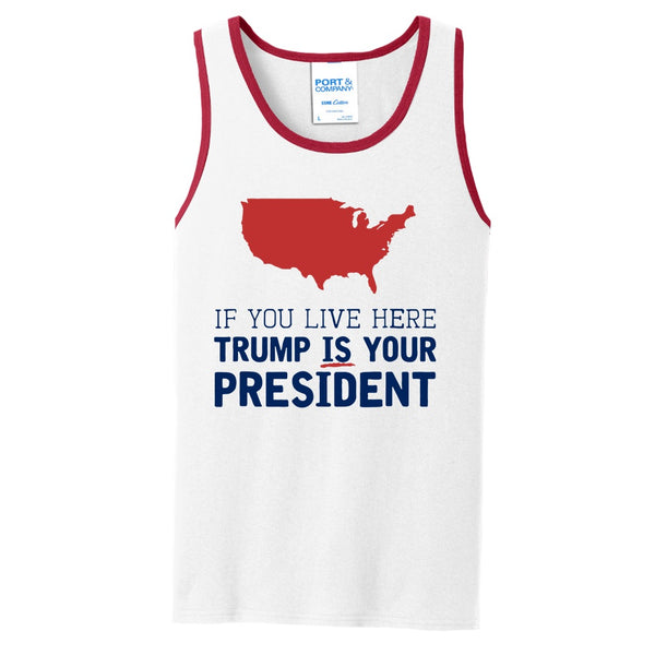Trump IS Your President - Core Cotton Tank Top