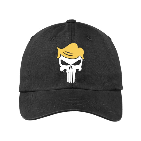 Trump Skull - Port Authority Garment Washed Unstructured Cap