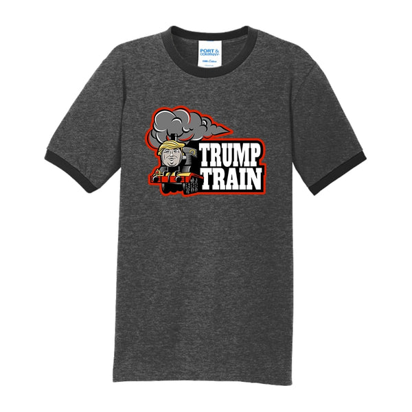 Trump Train - Core Cotton Ringer Tee