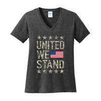 United We Stand - Ladies Core Cotton V-Neck Tee