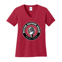 Wayne Dupree Show - Ladies Core Cotton V-Neck Tee