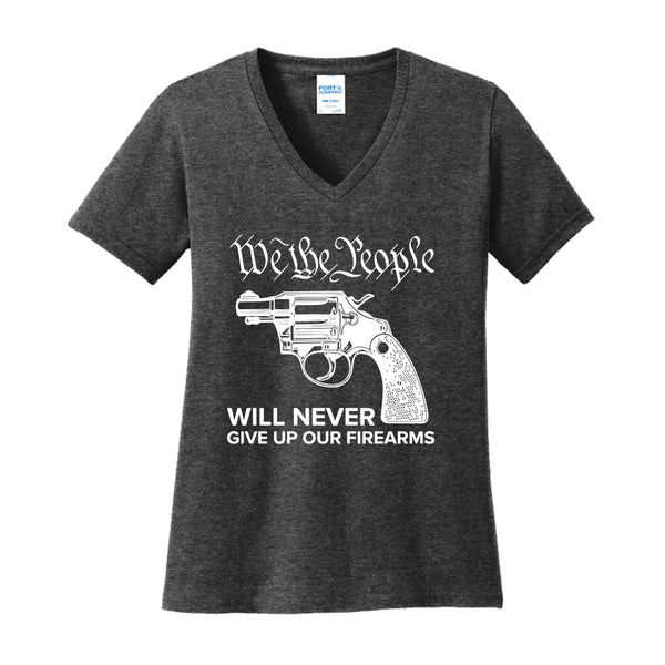 We The Armed People - Ladies Core Cotton V-Neck Tee