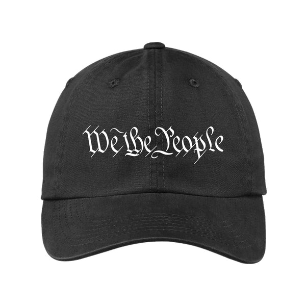 We The People - Garment Washed Unstructured Cap