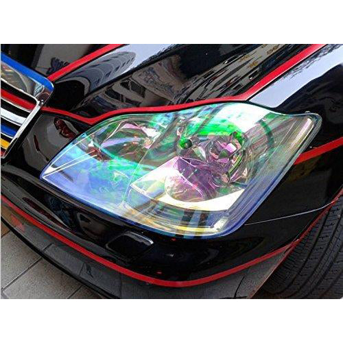 LED LIGHT 12 by 48 inches Self Adhesive Shiny Chameleon Headlights