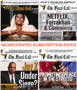 3 Months 12 Issues (Incarcerated Rate) -  (PRINT EDITION - MAIL ORDER)