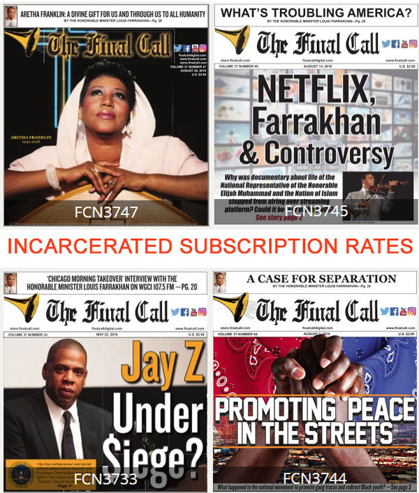 6 Months 24 Issues (Incarcerated Rate)  (PRINT EDITION - MAIL ORDER)