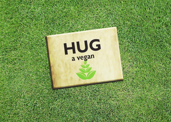 Vegan Vegetarian Fridge Magnet