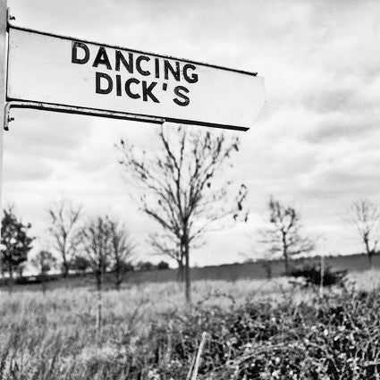 Dancing Dicks - Photographic Road Sign Greeting Card
