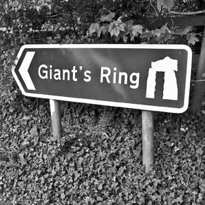 Giants Ring - Road Sign Greeting Card