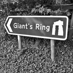 Giant's Ring - Photographic Road Sign Greeting Card
