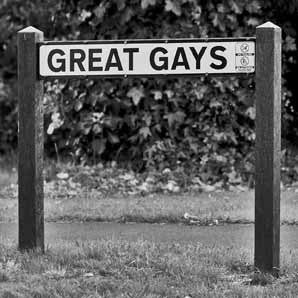 Great Gays - Road Sign Greeting Card