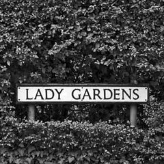 Lady Gardens - Road Sign Greeting Card