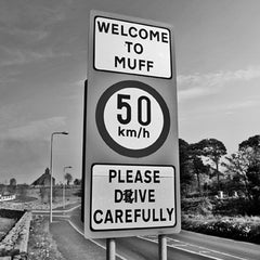 Muff - Photographic Road Sign Greeting Card