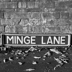 Minge Lane - Road Sign Greeting Card