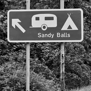 Sandy Balls - Road Sign Greeting Card