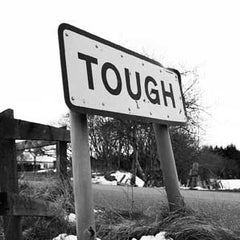 Tough - Road Sign Greeting Card