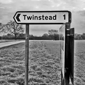 Twinstead - Road Sign Greeting Card