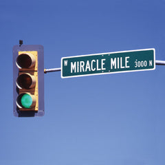 Miracle Mile, USA - Greeting Card