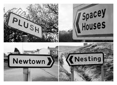 Postcard: Plush/Spacey Houses/Newtown/Nesting - PC07