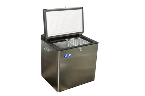 75L S/Steel Fridge/Freezer 12V/Gas/220V
