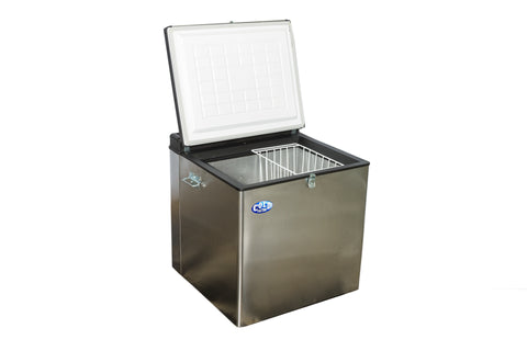 90L S/Steel Fridge/Freezer 12V/Gas/220V