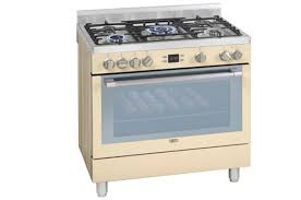 Cream 5 Burner Gas Electric Multifunction Stove DGS162C