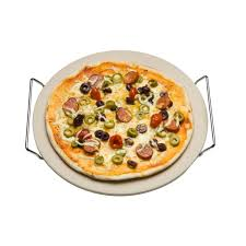 Pizza Stone with Stand and Cutter