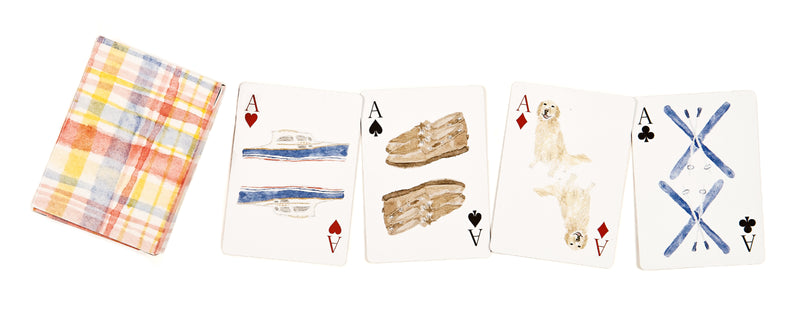 Madras Print Playing Cards